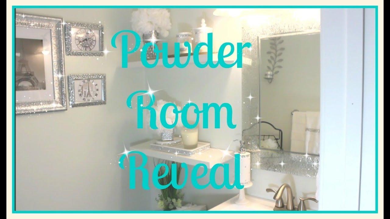 💎Small Bathroom Tour   💎Affordable Glam Decor   Powder Room Reveal ...