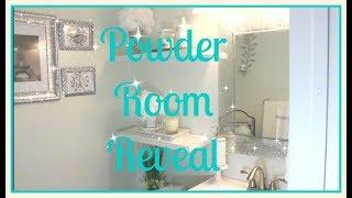 💎Small Bathroom Tour|| 💎Affordable Glam Decor|| Powder Room Reveal💎
