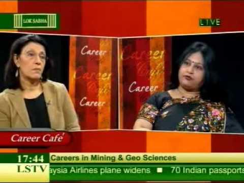 Dr Dasgupta, UPES with Ms Pervin Malhotra at Career Cafe TV Show on Lok Sabha