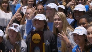 Fans celebrate the 2019 Women's College World Series Champion UCLA Bruins with a warm welcome home