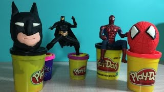 Batman, the Superhero...Watch how easy it is to make with Play-Doh!!