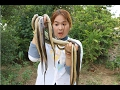 How To Cook Water Snake In My Country - Beautiful Girl Cooking - Village Food Factory