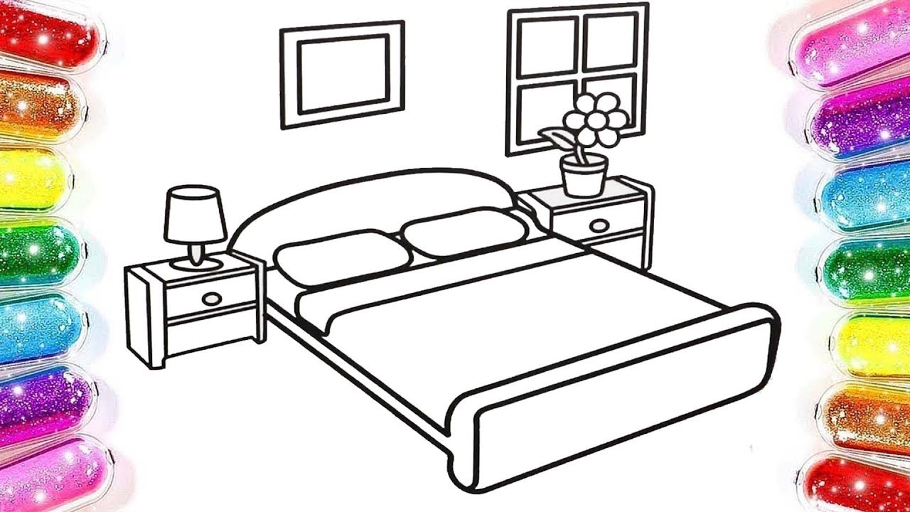 Yatak Odasi Boyama Renkleri Ogreniyorum Boyama Oyunu Youtube