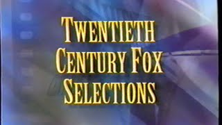Twentieth Century Fox Selections (1996) Promo (VHS Capture)