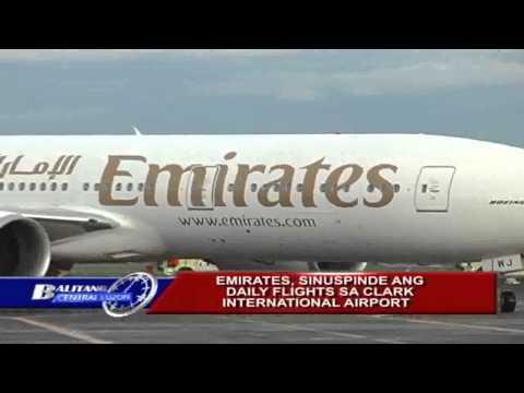EMIRATES SINUSPINDE ANG DAILY FLIGHTS SA CLARK INTERNATIONAL AIRPORT