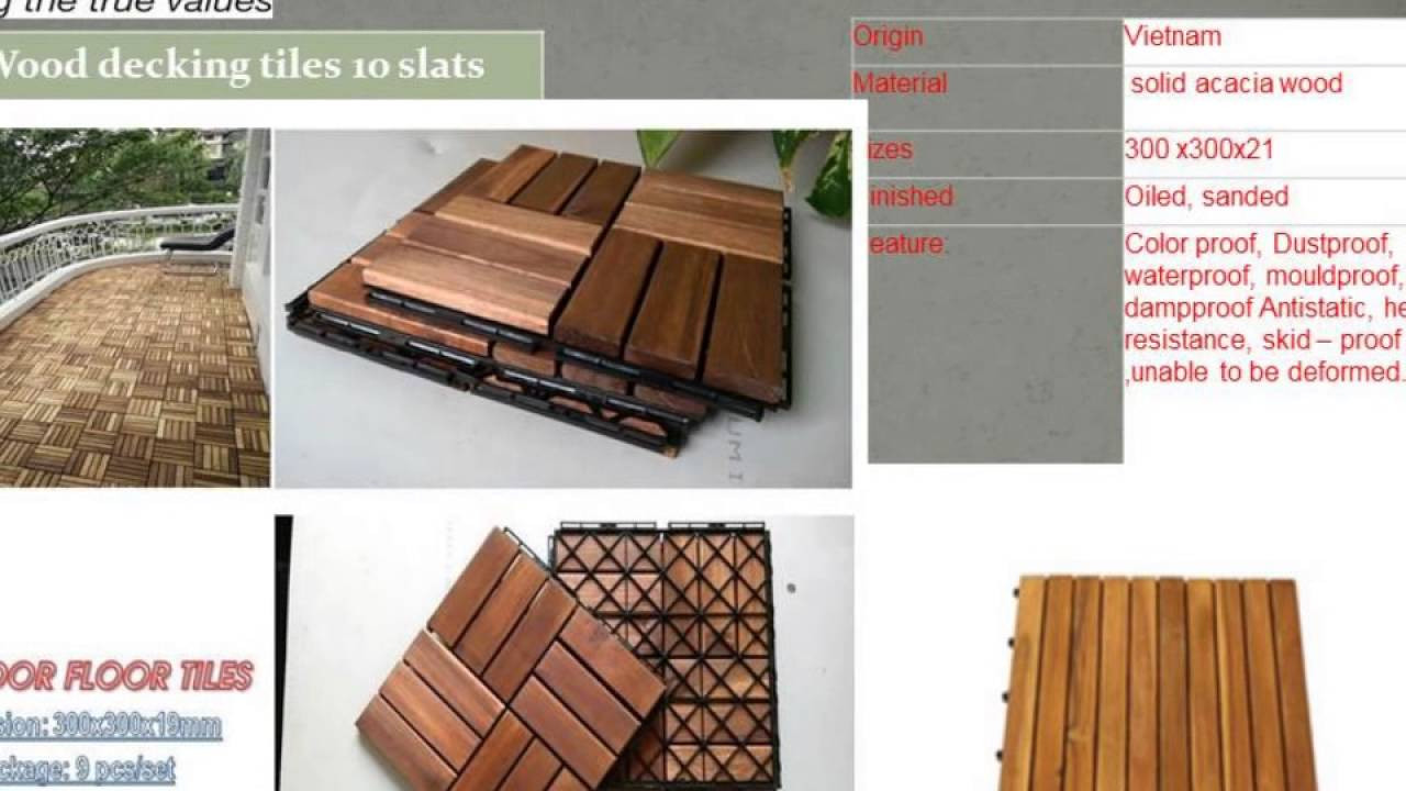 How to making wood deck tiles outdoor flooring tiles youtube how to making wood deck tiles outdoor flooring tiles dailygadgetfo Images