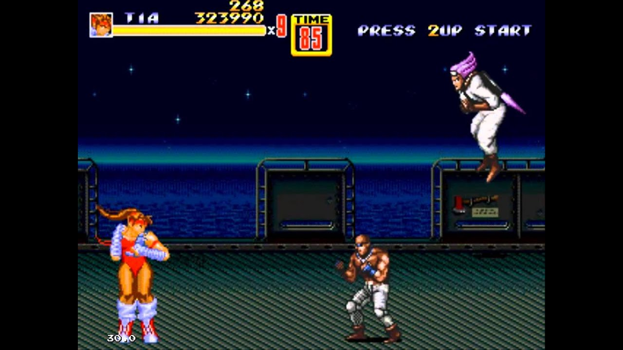 Streets Of Rage 2 Tia Langray Hack Gameplay Stage 5 Youtube