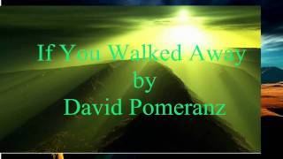 DAVID POMERANZ - IF YOU WALKED AWAY  [w/ lyrics]