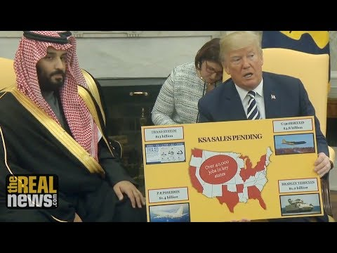 Trump Boasts of Killer Arms Sales in Meeting with Saudi Dictator, Using Cartoonish Charts