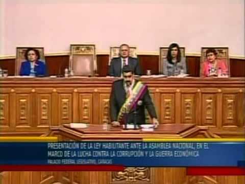 Nicolás Maduro solicita la Ley Habilitante, DISCURSO COMPLETO