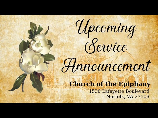 Upcoming Service Announcement