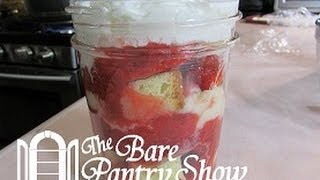 Strawberry Short Cake In A Mason Jar