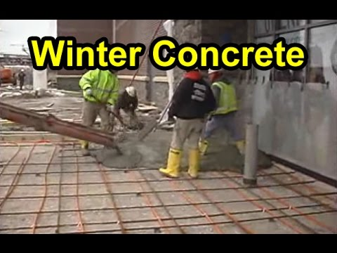 How To Pour Amp Cure Concrete In Winter Youtube