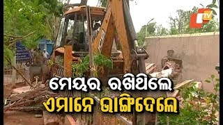 Eviction drive in MLA Colony in Bhubaneswar
