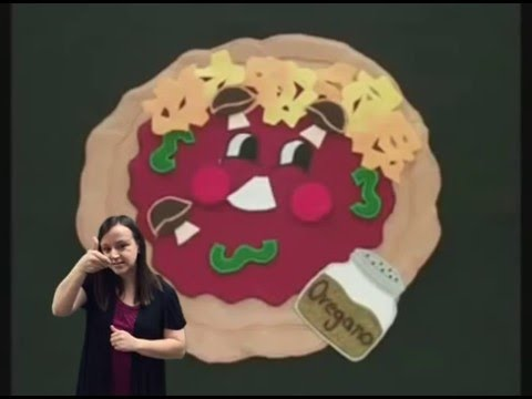 I am a Pizza with sign language