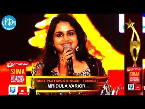 Best Playback Singer Female Mridula Warrier@SIIMA 2014, Malayalam