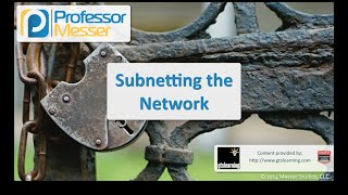 subnetting the network comptia security sy0 401 1 3