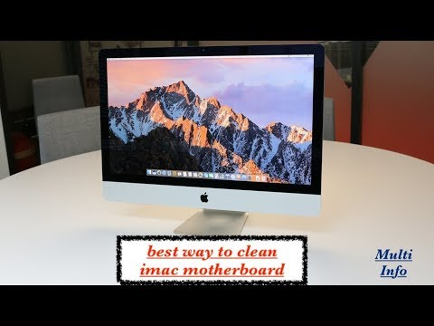 How To Clean Apple Imac Screen And Motherboard With  Air Inflator