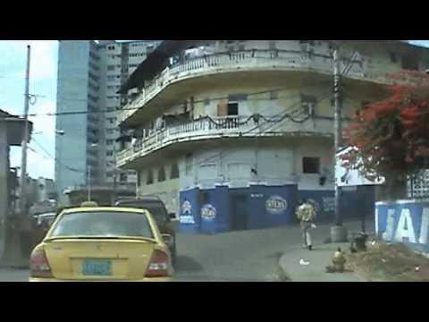 Driving Panama City Urban Jungle Quarters Population Central America by BK Bazhe.com