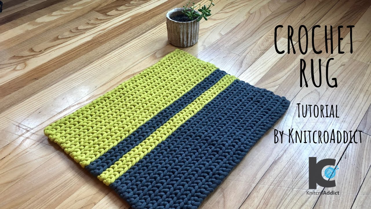 Crochet Rug Written Pattern