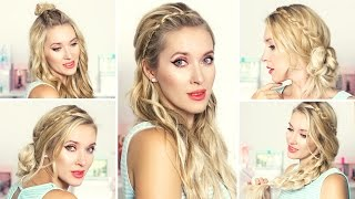 Easy back to school hairstyles ★ Cute and quick everyday braids for medium/long hair