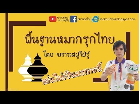 พื้นฐานหมากรุกไทย EP1 : กติกาและวิธีการเดินตัวหมากรุก