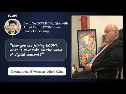 David Yu, ECOMI CEO, talks with Alfred Kahn - The man behind Pokemon