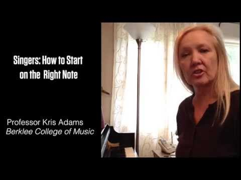 Finding Your Song's Starting Note - with Kris Adams, Berklee College of Music