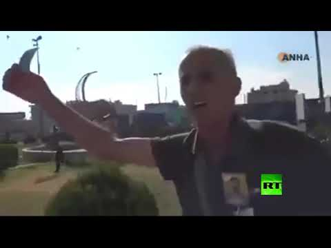 شاهد.. أكراد سوريون في القامشلي يقذفون قافلة أمريكية منسحبة إلى العراق بالحجارة  - نشر قبل 45 دقيقة