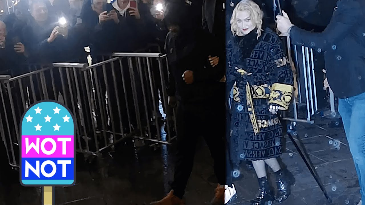 Madonna Uses A Cane After Gig In Paris That Had Fans