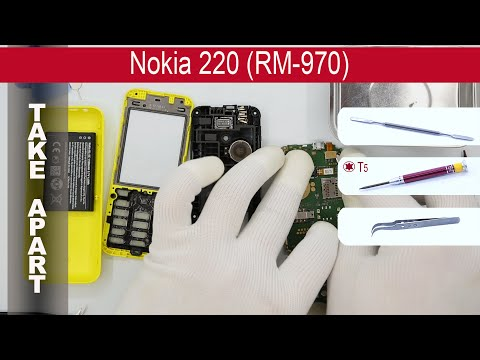 How to disassemble 📱 Nokia 220 RM-970/RM-969, Take Apart (Detailed tutorial)