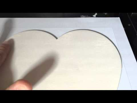 How To Print On Wood - Wooden Hearts Personalised