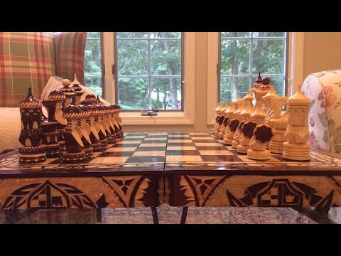 Unboxing: Expensive HAND CARVED chess set