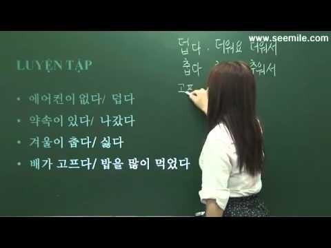 Hoc Tieng Han So Cap - Bai 02 - Vi Day Muon Nen Toi Da Di Hoc Muon ( Vi...nen...)