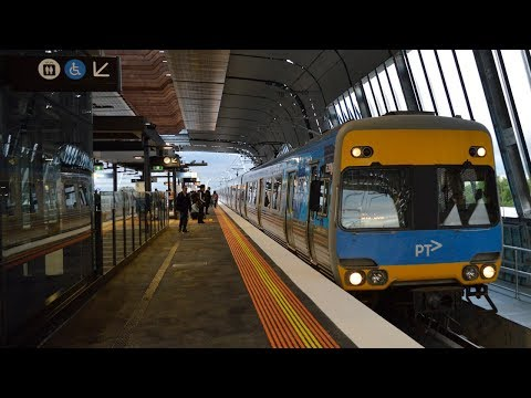 Trains at the new Clayton station - Metro Trains Melbourne