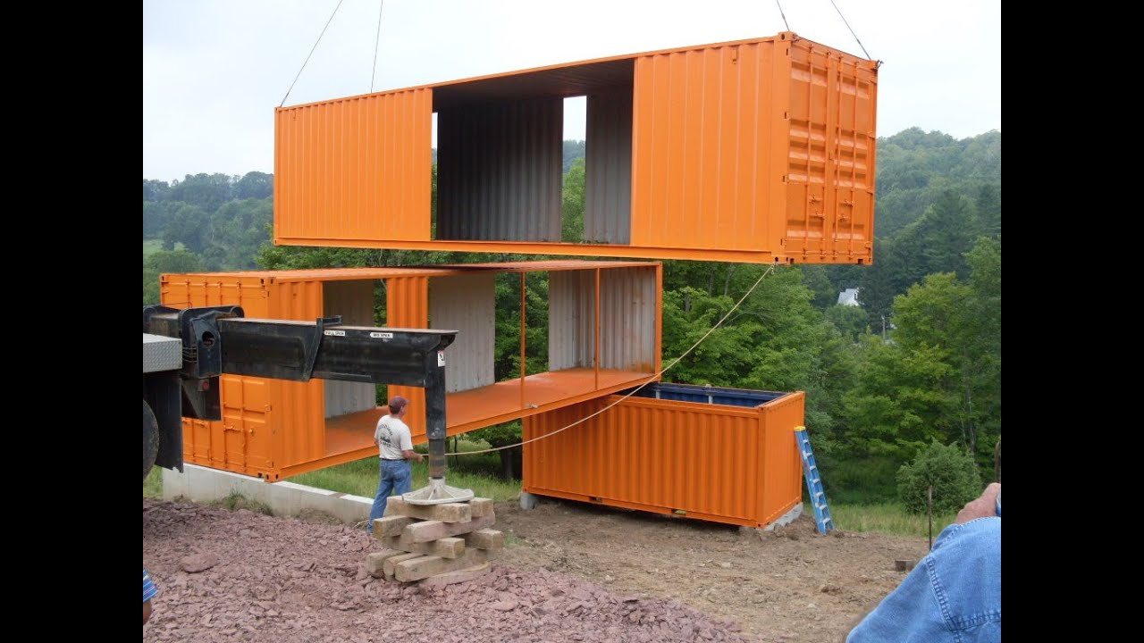 Prefab shipping container home builders youtube for House building contractors