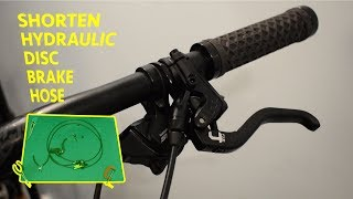 Shortening Hydraulic Disc Brake Hose Without Specific Tools