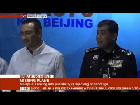 Malaysia Airlines Flight MH370 LIVE Press conference March 16 2014