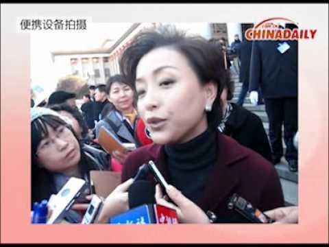 Yan Lan talks about NGO in CPCC meeting.flv