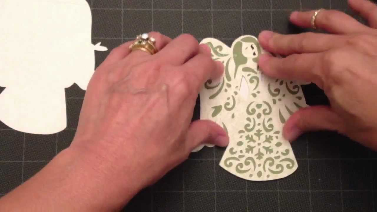 Cricut Card Making Ideas Youtube Part - 28: Making A Shape Card-A Quilted Christmas - YouTube