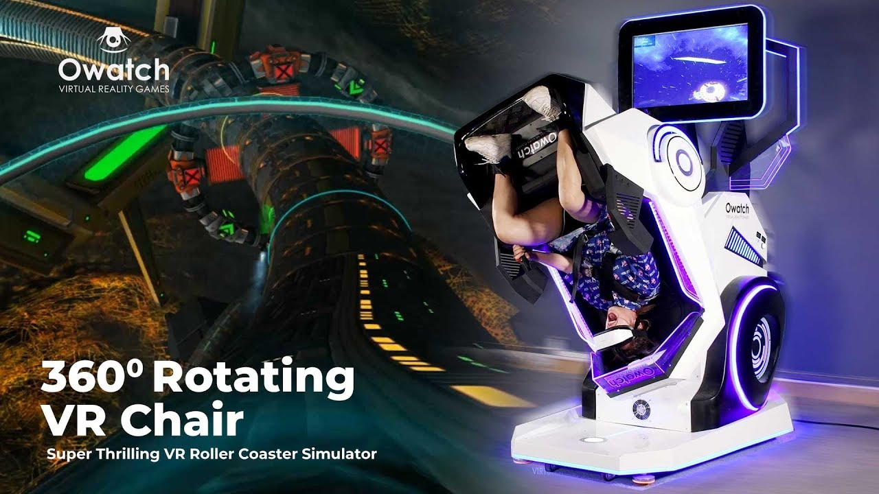 360° Rotating VR Roller Coaster Simulator - VR Motion Chair