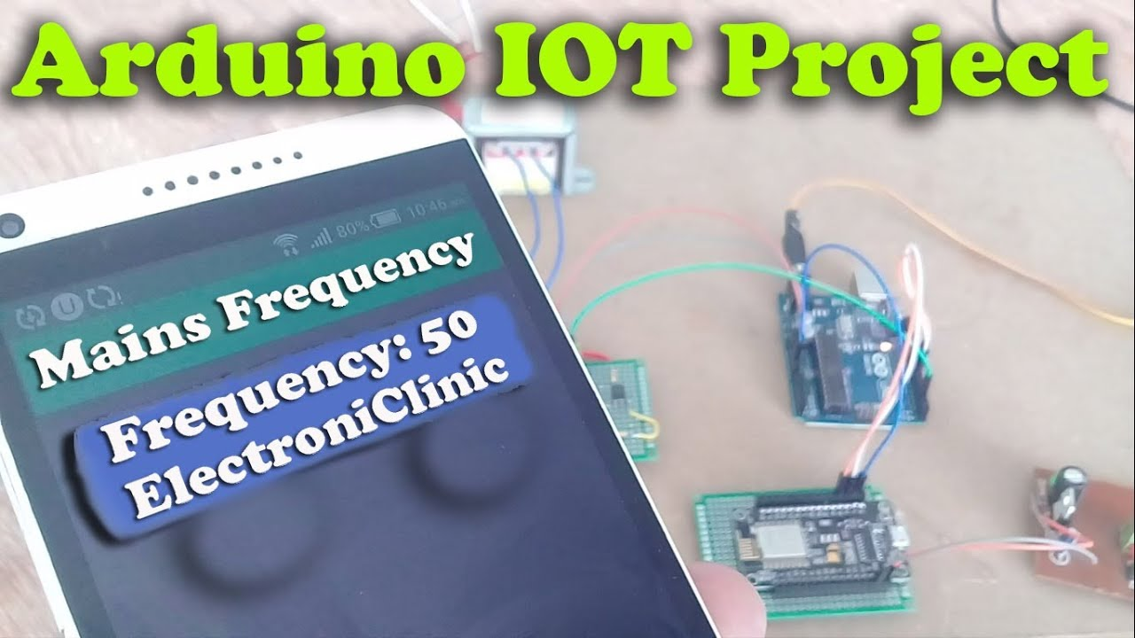"""Arduino iot Project: 110/220V ac mains frequency monitoring """"Nodemcu  esp8266 + Blynk"""""""