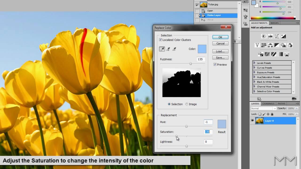 photoshop cs5 replace color tutorial