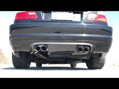 E46 M3 with Megan racing exhaust, no cats, magnaflow xpipe