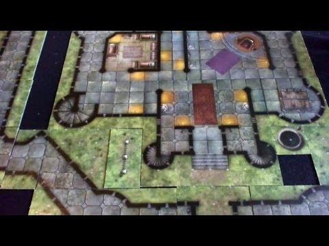 D Amp D Dungeon Tiles Castle Grimstead Youtube
