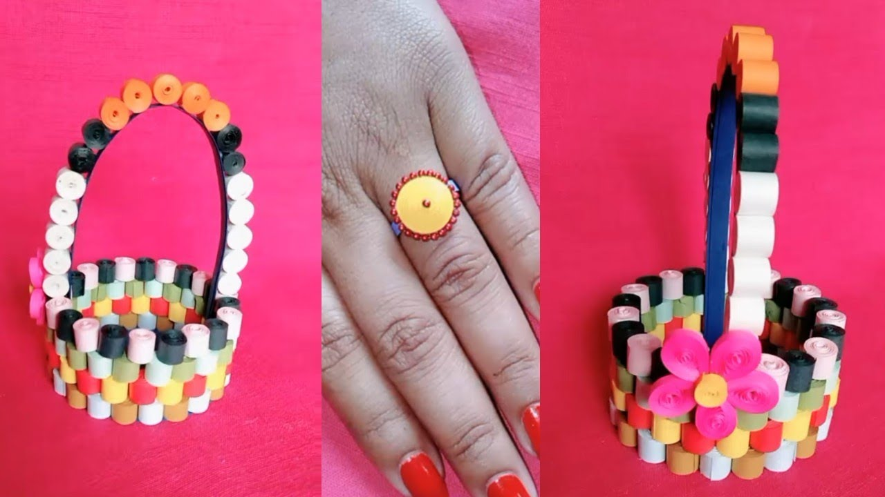 4 QUILLING PAPER CRAFT IDEAS | HOW TO MAKE QUILLING PAPER ...