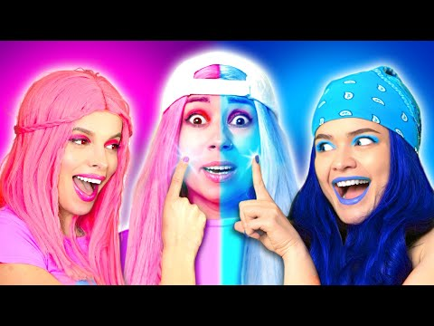 PINK Vs BLUE Color Challenge! How To Become  POPULAR CHEERLEADER? School Moments by La La Life Music