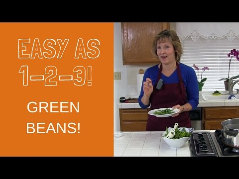 Cook Green Beans On The Stove In Boiling Water! An Easy, Healthy Vegetable Recipe!