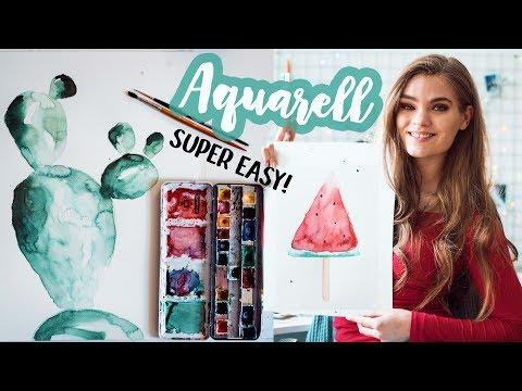 Aquarell Malen für Anfänger - Tipps für schöne Watercolor Bilder! // ImJette