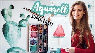 Aquarell Malen für Anfänger - Tipps für schöne Watercolor Bilder! // I'mJette